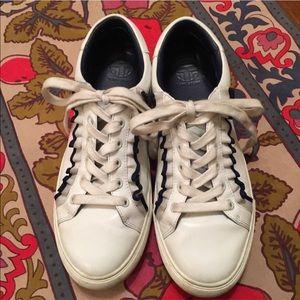 Tory Burch Sport Ruffle Sneaker, Sz 8.5